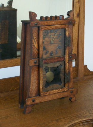 Mission mantel oak clocks from the arts amp crafts period gilbert